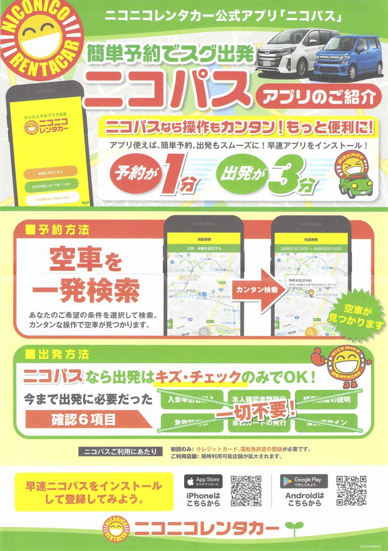 ニコパスアプリ